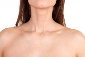 close up of lady neck